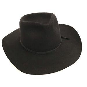 Akubra Snowy River Pure Fur Felt Hat in Black